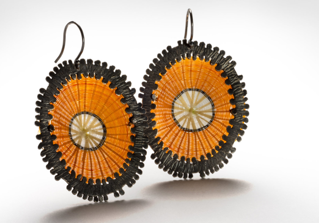 Orange Earring Volcan