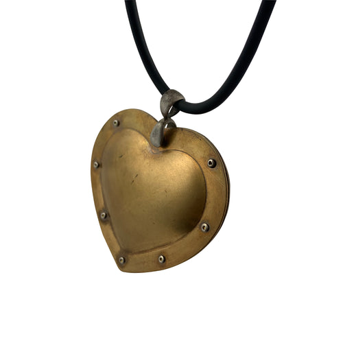 Fearless Heart Bronze Pendant