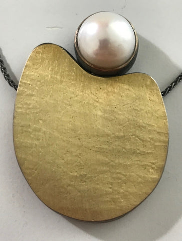 Twin Necklace with Potato Pearls Gold-Filled