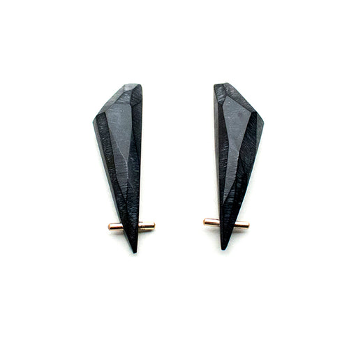 Black Gold Talon Earrings - XL - Lireille