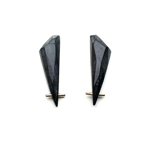 Black Gold Talon Earrings - Lireille