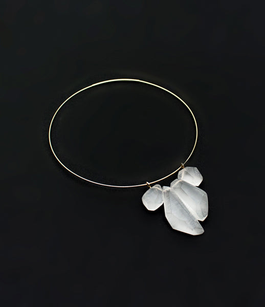 White Gold Quartet Necklace