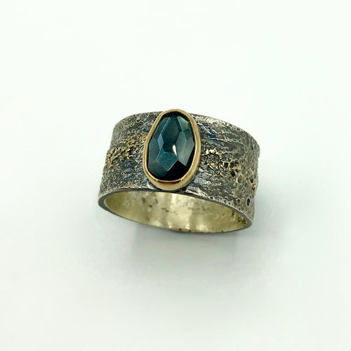 Brazilian Deep Blue-Green Tourmaline Ring