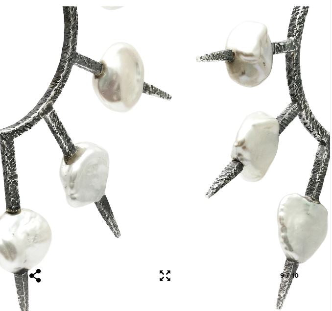 Sevenfold Love Pearl Earrings