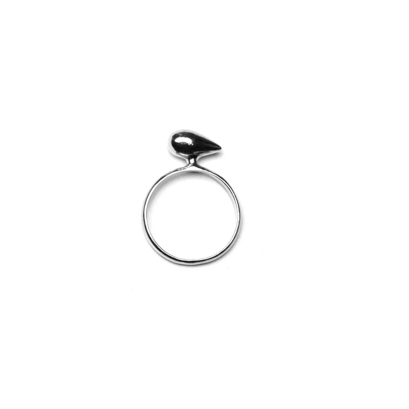 Sterling Silver Liquid Gold Horizontal Drop Ring