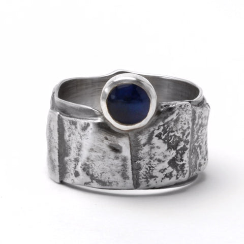 Shield Sapphire Diamond Ring