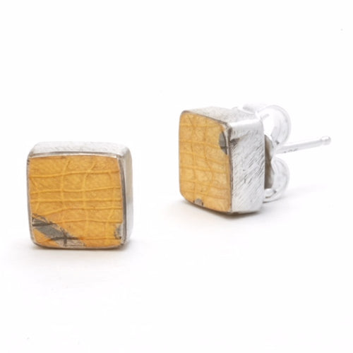 Tiny Square Post Earrings