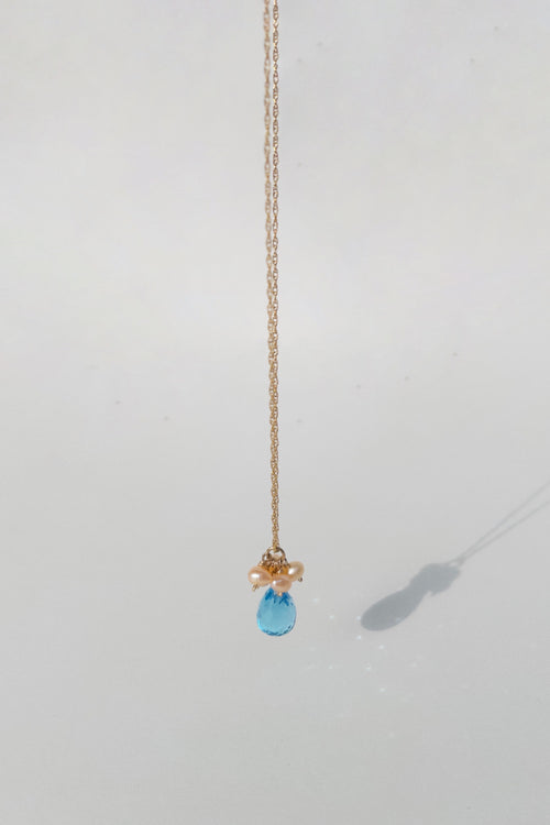 Drop Necklace with London Topaz