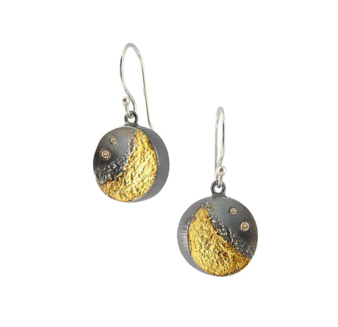 Shadow Teardrop Gold Earrings