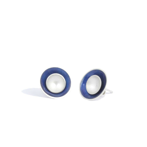 Large Enamel and Silver Target Studs - Outer Enamel