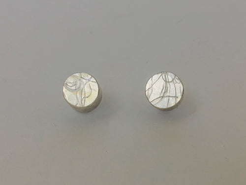 Random Pattern Round Earrings