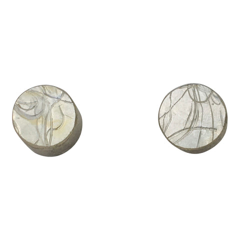 Small Double Leaf Gold Stud Earrings