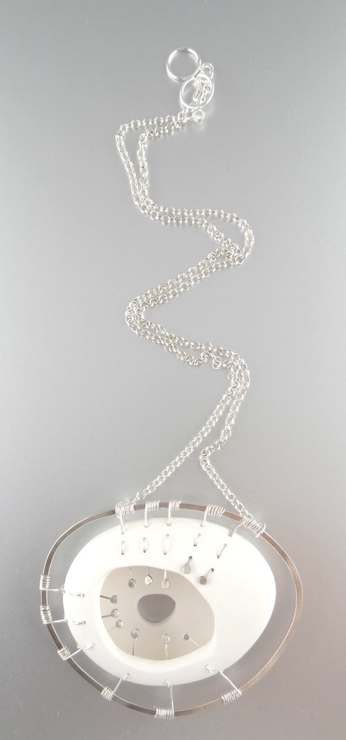White Cocoon Necklace