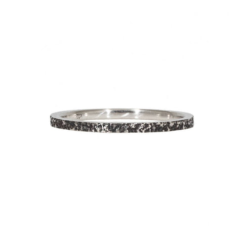 1.35mm Slim Sand Bandin Oxidized Silver