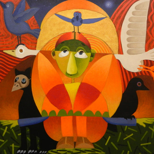 For the Birds by Pete Hackett - Acrylic on Canvas