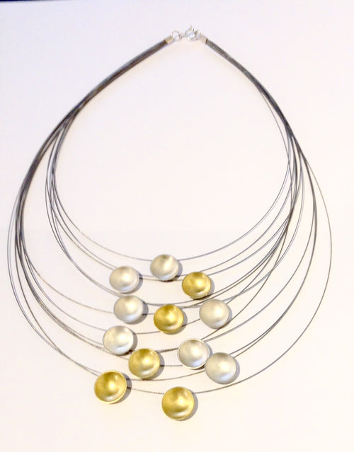 Multi Strand Discs Necklace