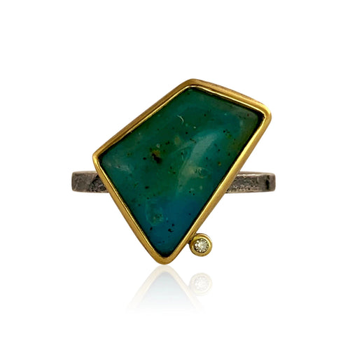 Geo Ring - Chrysocolla