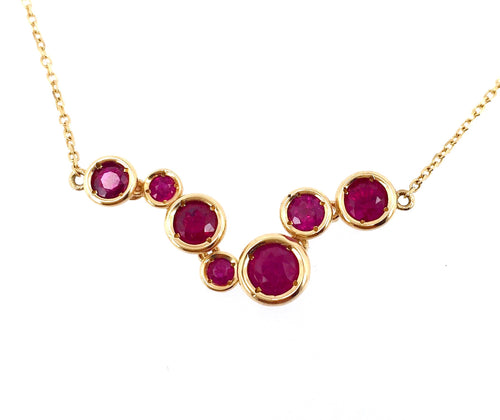 Joyful Circle Ruby Necklace