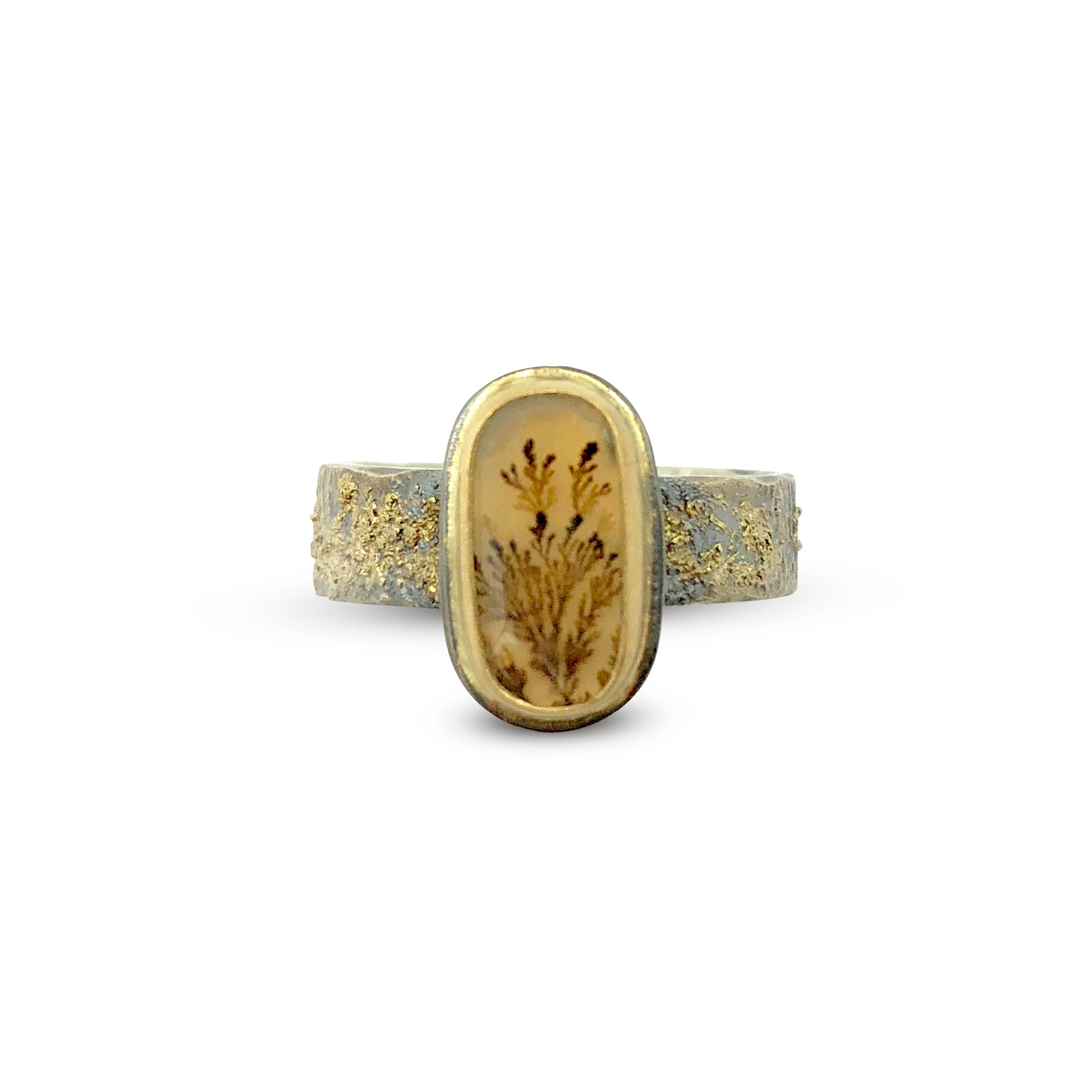 Dendritic Agate Cabochon Ring