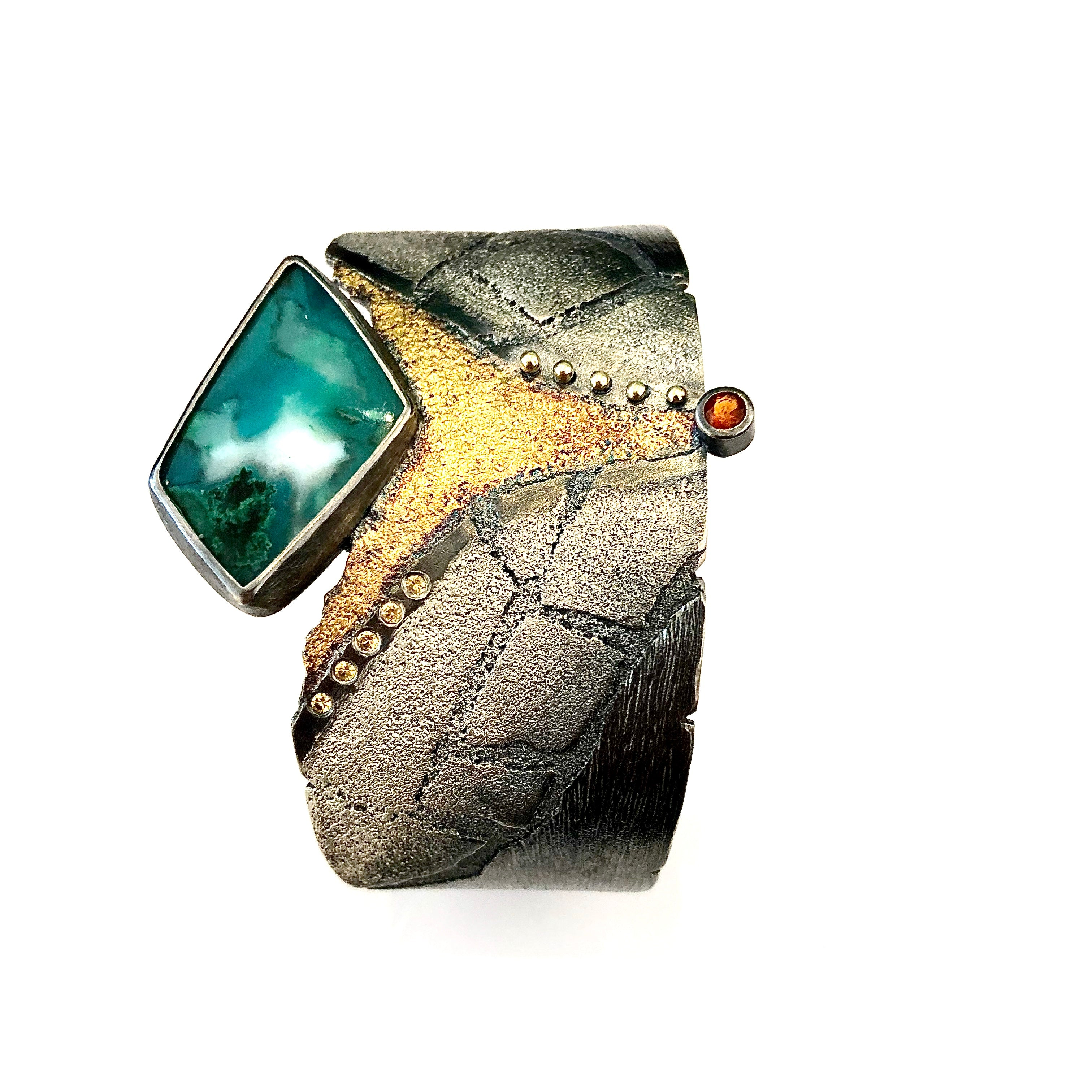San Andrea Cuff with Chrysocolla