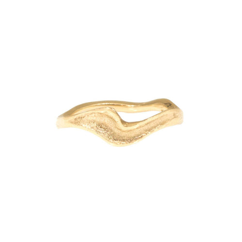 Golden Surf Wedding Band