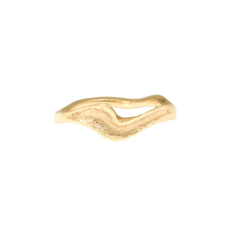 Woodgrain Pattern Mokume Gane Gold Wedding Band for Men and Women