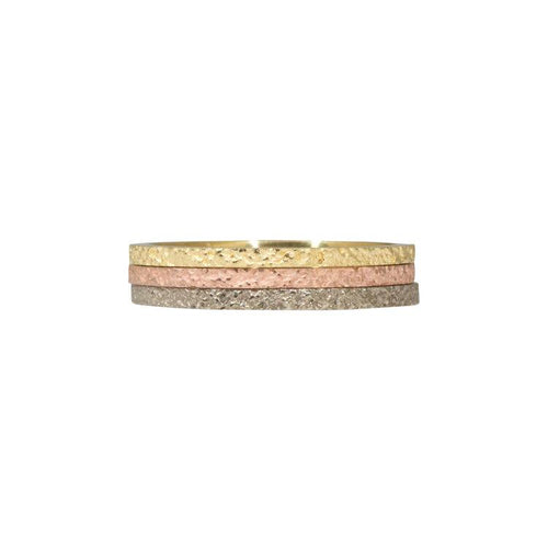 1.35mm Slim Sand Band in 18k Yellow Gold, 14k rose gold or 14k white gold