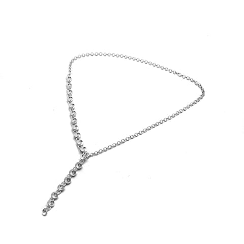 Large Textured Handmade Oval Silver Link Chain