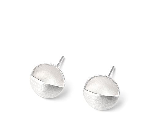 Domed Circle Pocket Earrings