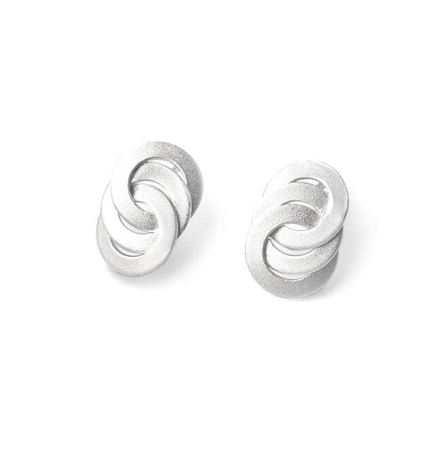 Sterling Silver Circle Infinity Post Earrings