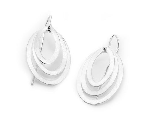 3 Oval Shaped Earrings
