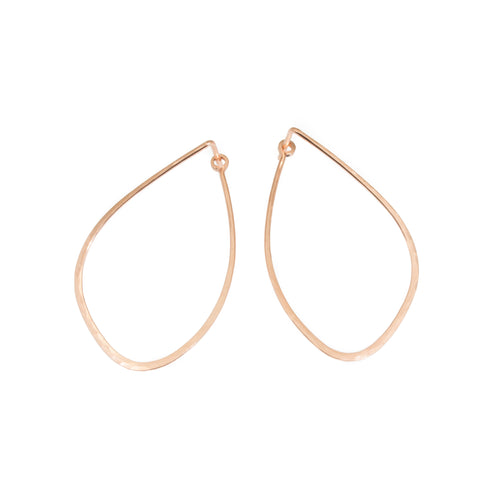 Mussel Tension Hoop Earrings in 14k Rose Gold