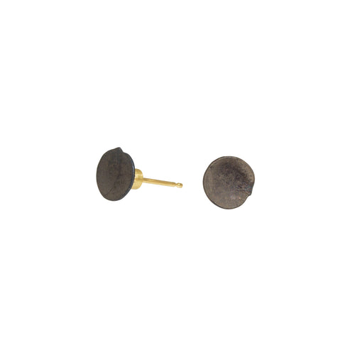 Dished Nail Head Stud Earrings in 18k Yellow Gold