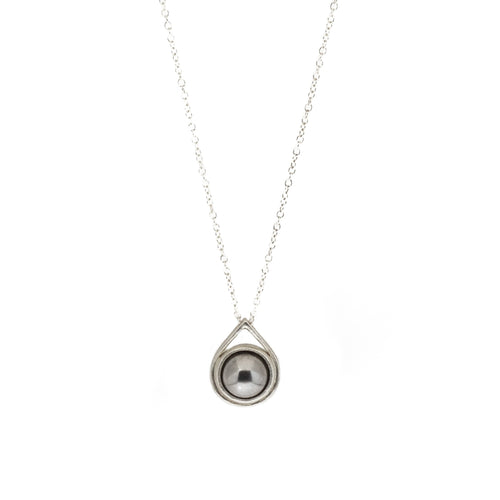 Ball Bearing Drop Pendant in Silver