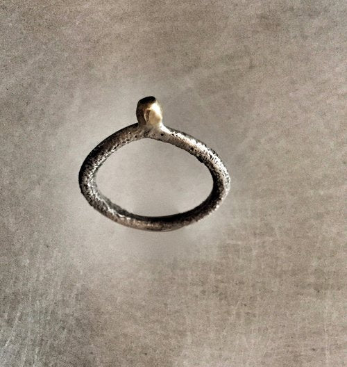 18k Gold and Sterling Silver Ring - Lireille