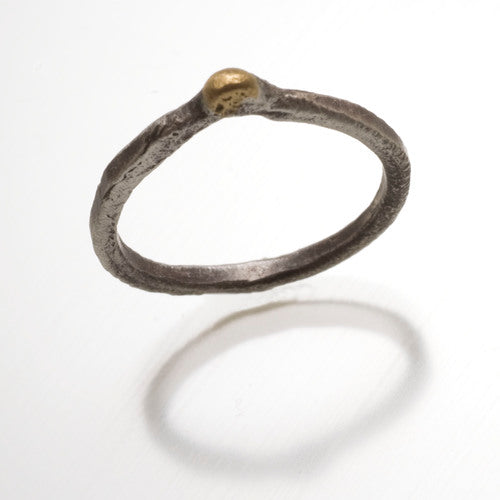 18k Gold and Sterling Silver Ring