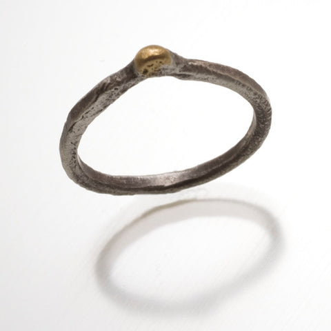 Long Leaf Ring with 14k Highlights