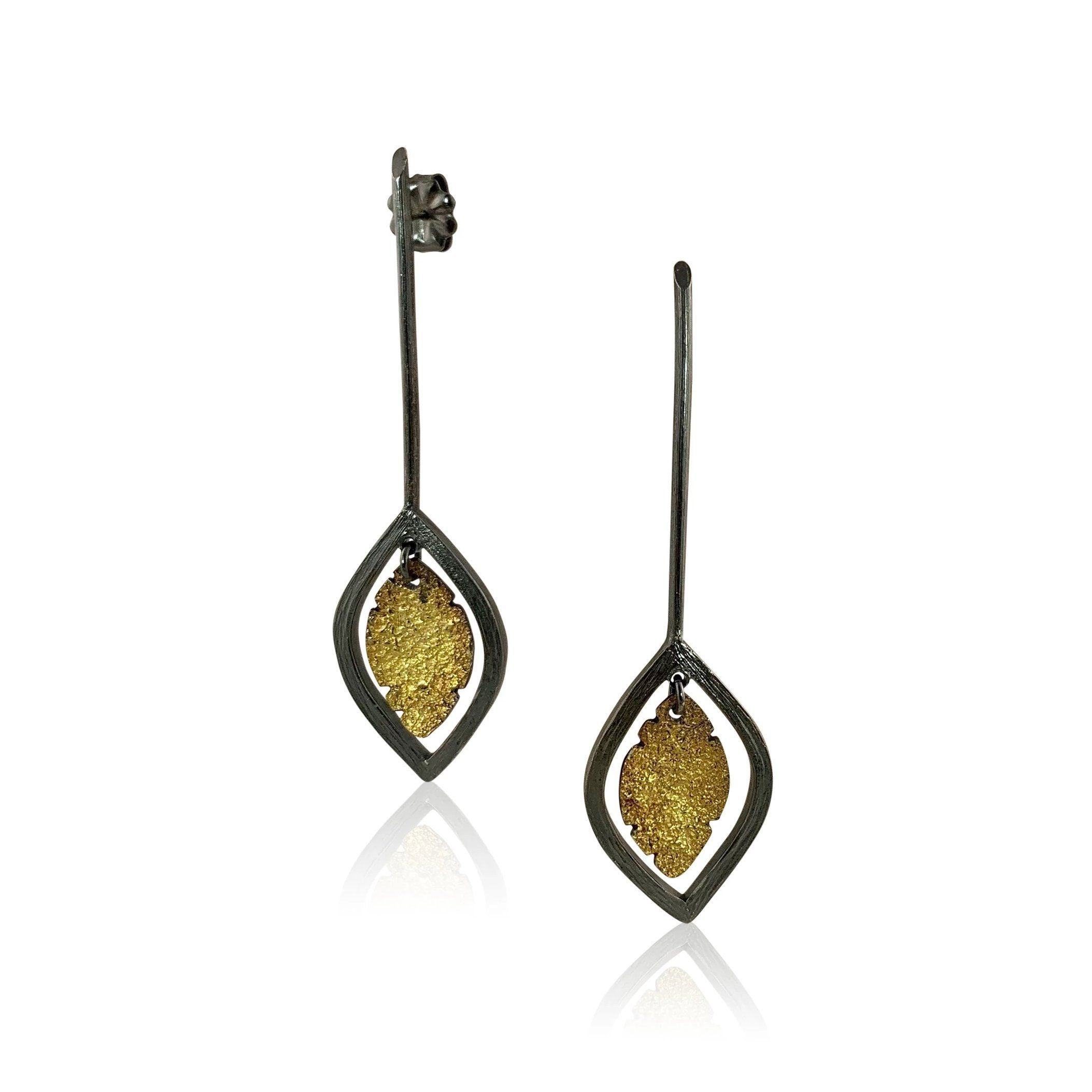 Small Leaf Drop Earring