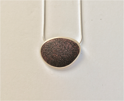"Enamel ""Stone"" Necklace - Lireille"
