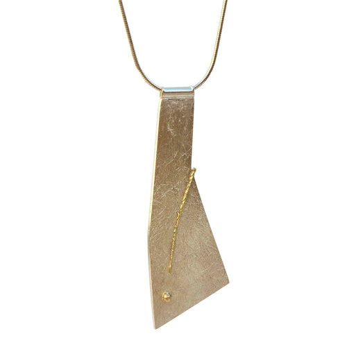 18kt Gold Exlamation Necklace