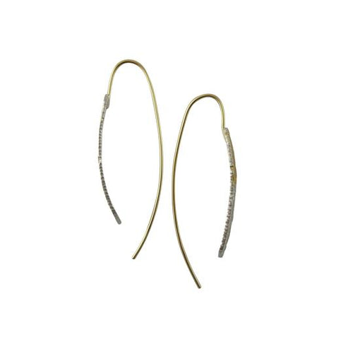 Ombre Blade Gold Earrings