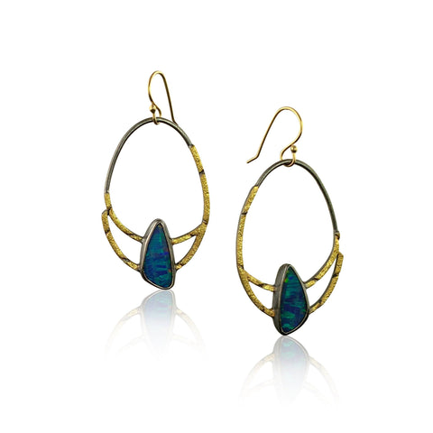Twin earrings short