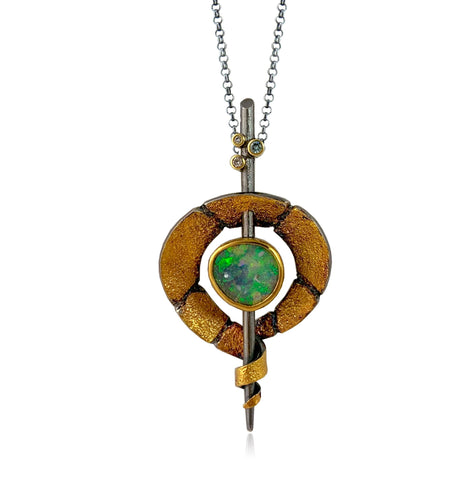 Terra Lotus Gold Diamond Pendant
