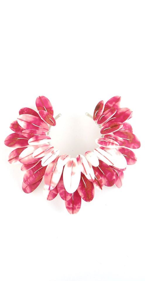 Feather Flower Necklace - Lireille