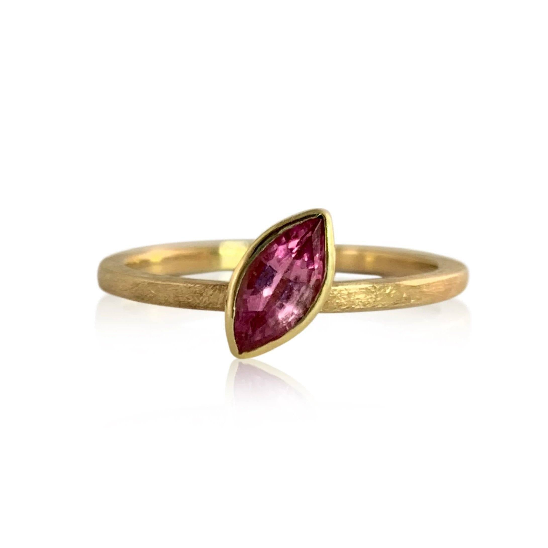 Pink Sapphire Marquise Stacker Ring