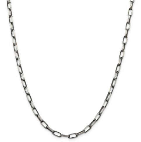 Sterling Silver Antiqued Fancy Link Necklace