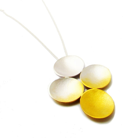 Loop Midi Pendant - Silver with Gold Vermeil