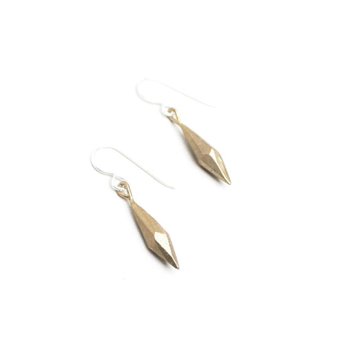 Sterling Silver Raw Crystal Dangle Earrings