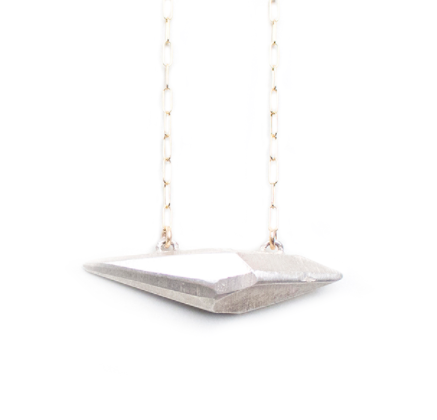 Raw Horizontal Crystal Pendant - XL