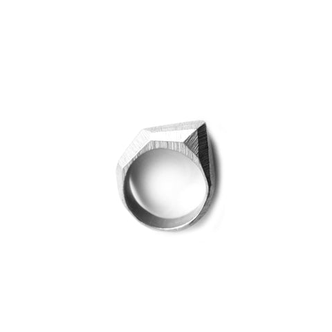 Sterling Silver Liquid Gold Vertical Drop Ring